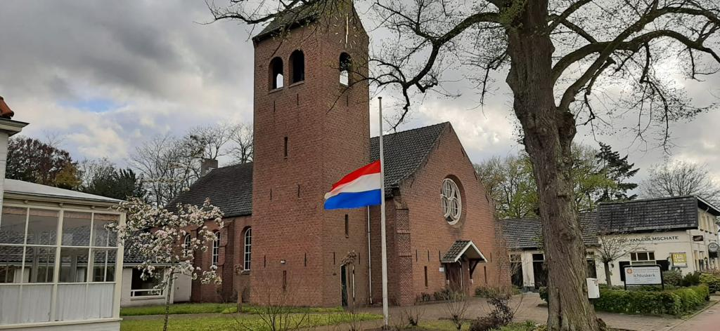 Een échte vlaggenmast